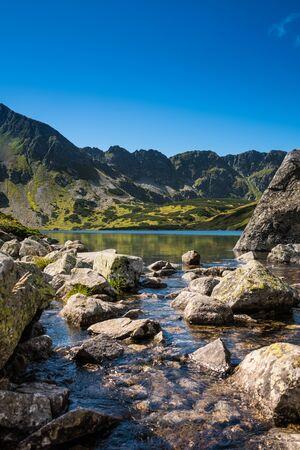 View on Miedziane, Szpiglasowa Przelecz, Szpiglasowy Wierch and Opalony Wierch from the valley in Tatra
