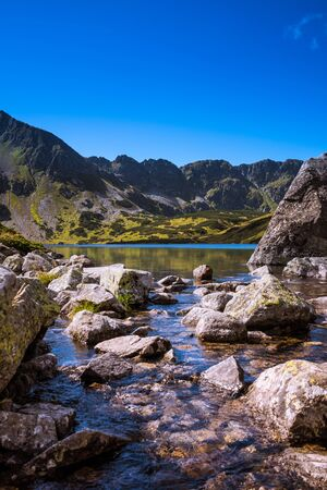 Summer in Tatra Mountains - view on most spectacular rocky summits