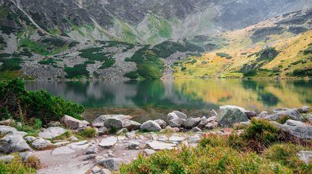 Mountain pond - Przedni Staw in Dolina Pieciu Stawow Polskich in Poland