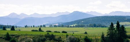 Tatra Mountains covered with morning mist - tourism