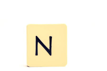 Alphabet capital letter N isolated on white background