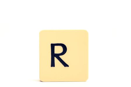 Alphabet capital letter R isolated on white background