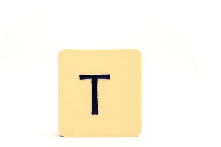 Alphabet capital letter T isolated on white background