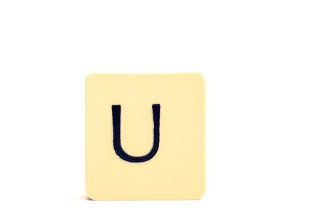 Alphabet capital letter U isolated on white background
