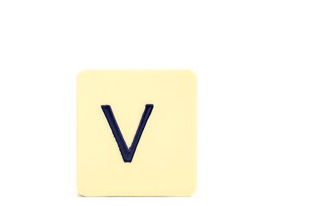 Alphabet capital letter V isolated on white background