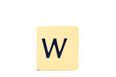 Alphabet capital letter W isolated on white background Stockfoto