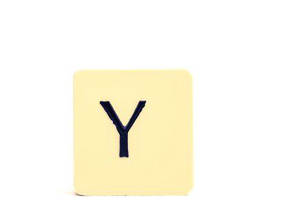 Alphabet capital letter Y isolated on white background