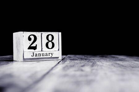 January 28th, 28 January, Twenty Eighth of January, calendar month - date or anniversary or birthday Stockfoto