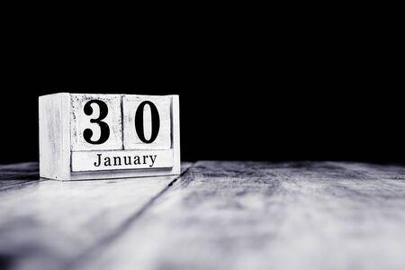 January 30th, 30 January, Thirtieth of January, calendar month - date or anniversary or birthday Stok Fotoğraf