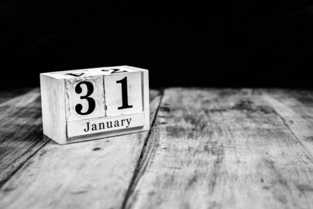 January 31st, 31 January, Thirty First of January, calendar month - date or anniversary or birthday Stockfoto