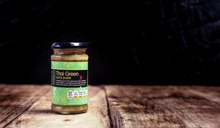 Perth, Scotland - 11 November 2019: Thai Green Curry Paste