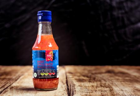 Perth, Scotland - 11 November 2019: Sweet Chilli Sauce