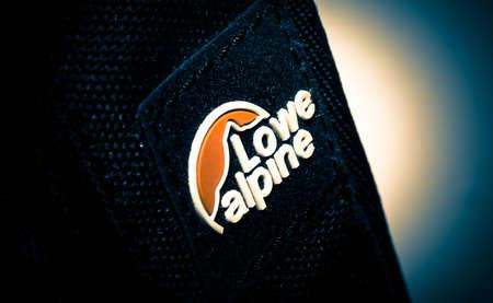 16 November 2019 - Perth, Scotland: Lowe Alpine brand logo