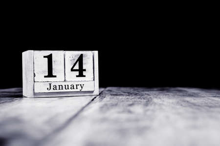 January 14th, 14 January, Fourteenth of January, calendar month - date or anniversary or birthday