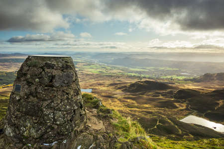 View from the top of Ben Vrackie in Perth and Kinross, Scotland 免版税图像
