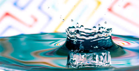 Water splash,water splash isolated on bright background Banco de Imagens