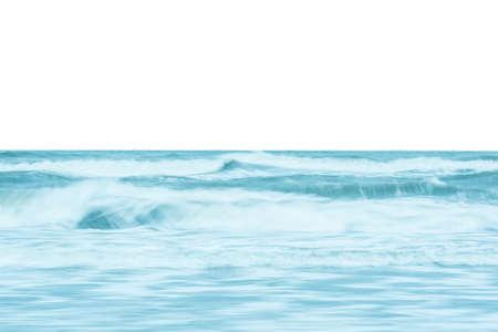Ocean waves crashing on the shore Foto de archivo