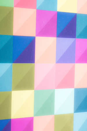 Colorful checkered abstract background, variable sizes backdrop