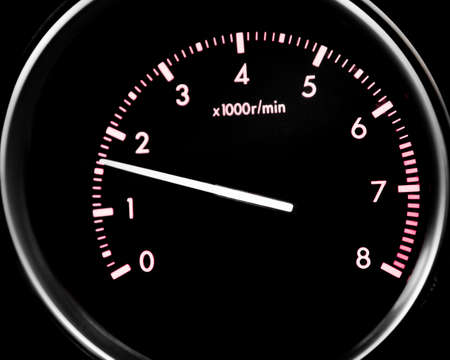Car dashboard dials - engine RPM (rotations per minute) Archivio Fotografico