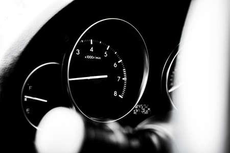 Car dashboard dials - engine RPM (rotations per minute)
