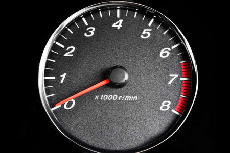 Close-up dashboard with speedometer and RPM Banco de Imagens