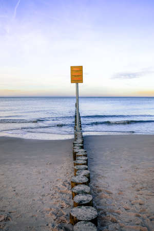 Wavebreaker - Baltic Sea wooden breakwater