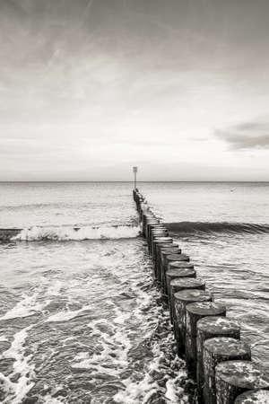 Wavebreaker - Baltic Sea wooden wavebreakers