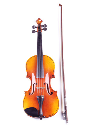 Violin on an isolated bacground photo