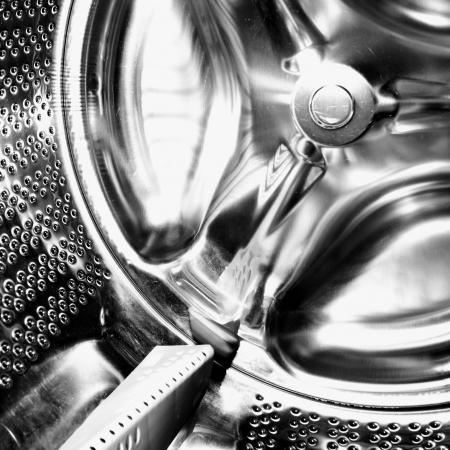Inside of a washing machine photo