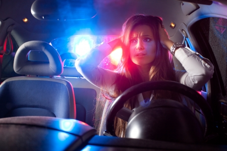 Woman chaced and pulled over by police photo