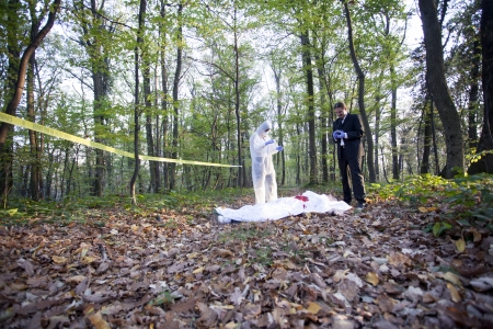 escena del crimen: Crime Scene Investigation Foto de archivo