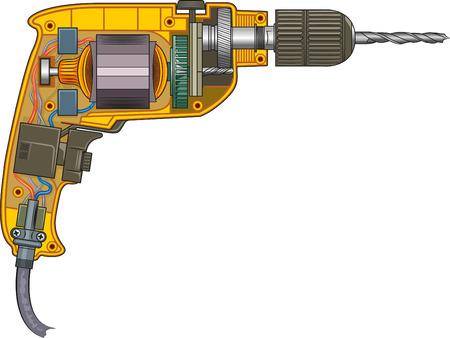 electric drill: Schematic representation of electric drills.