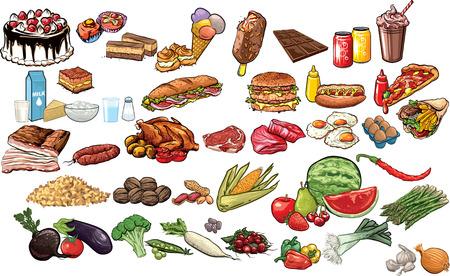 piramide alimenticia: Alimentos y bebidas colección.