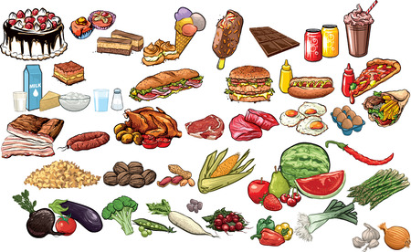 food industry: Food and beverages collection.