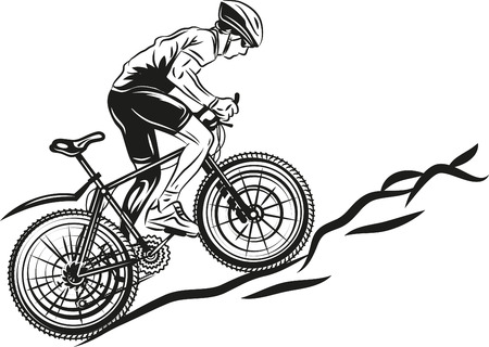 bicycle race: MTB biker
