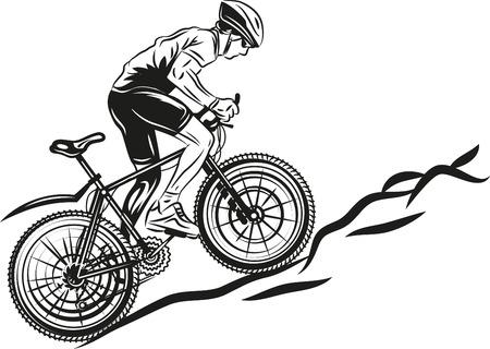 silueta ciclista: MTB motorista