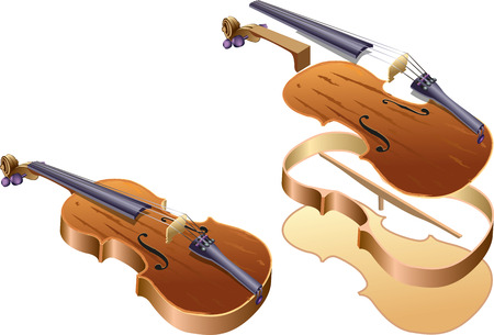 chiave di violino: Violino in parti Vettoriali