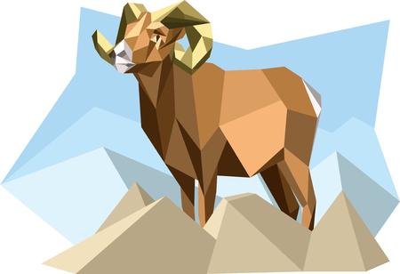 cubismo: Cabra en el estilo del cubismo