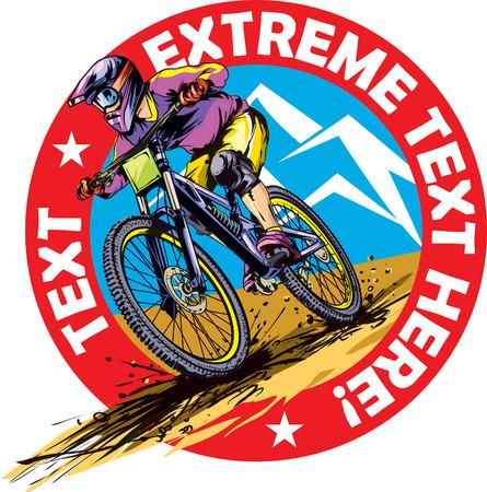 Downhill rider Illustration