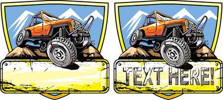 Geländewagen-Logo-Design