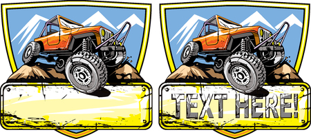 Off-road vehicle logo design