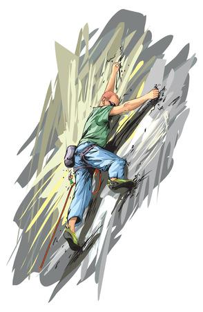 rock climber: Rock climber