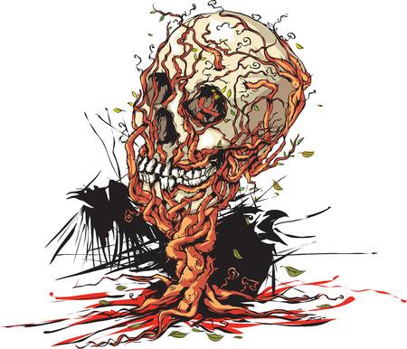 skull character: Skull tree