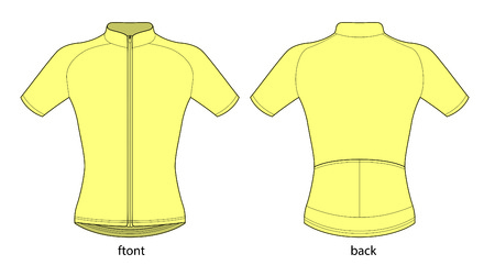 Short sleeve bicycle jersey Stock fotó - 59069056