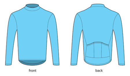 Long sleeve bicycle jersey template Illusztráció