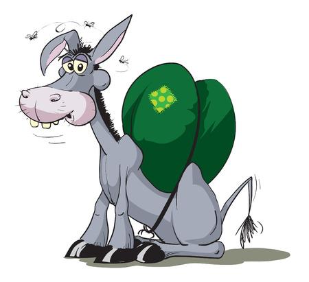 yoke: Donkey with heavy load