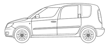 Outline car template - roomster