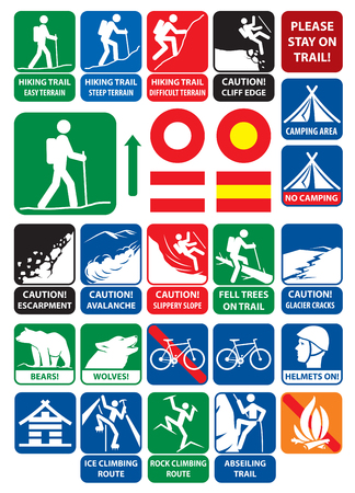 Mountaineering signs