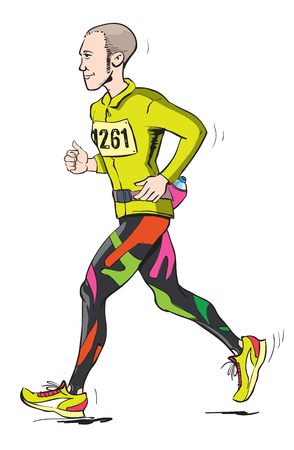 Long distance runner Illustration