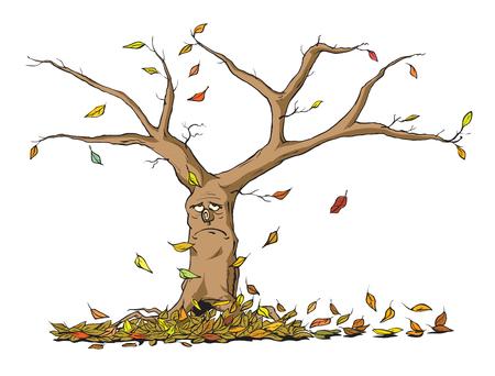 Sad autumn tree